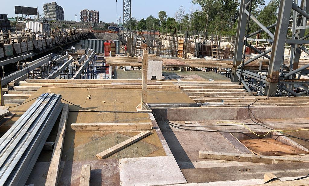 Avancement de la construction - 6 août 2018
