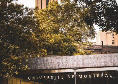 Façade de l'Université de Montréal