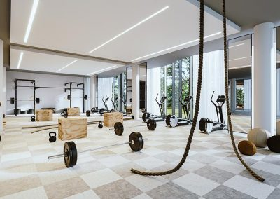 Salle d'entrainement et de confitionnement physique