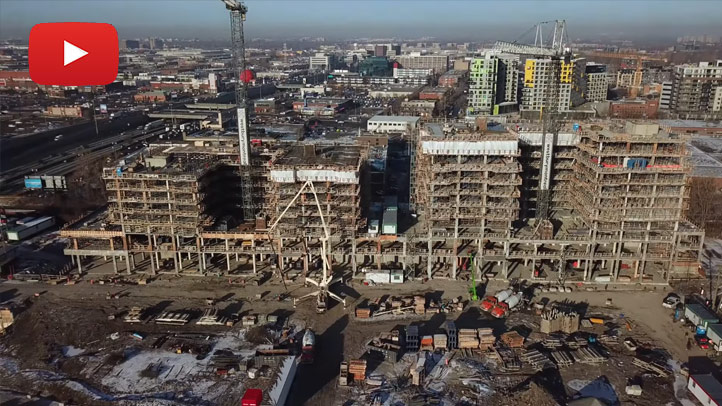 Vidéo présentant l'avancement de la construction - décembre 2018