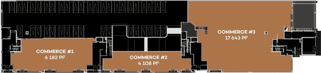 Westbury Montréal Phase 3, Commercial Spaces Plans