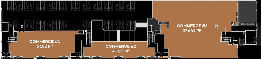 Plans des espaces commerciaux de Westbury Montréal