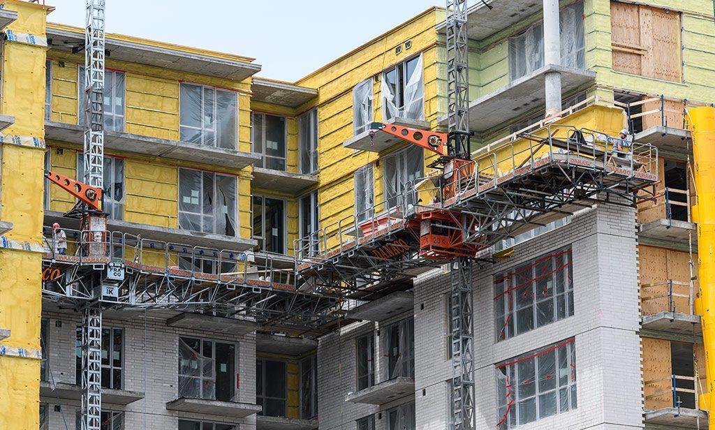 Avancement de la construction de Westbury Montréal en date du 19 juin 2019