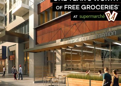 a year's worth of free groceries at the Westbury Supermarché PA